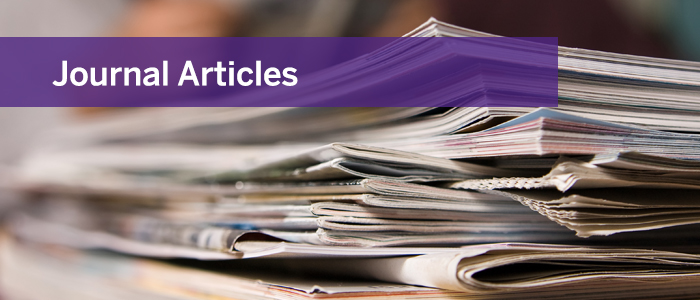 Click here to learn more about our published journal articles