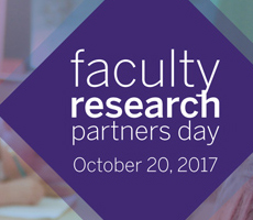 Faculty Research Partners Day, October 2017 presentations
